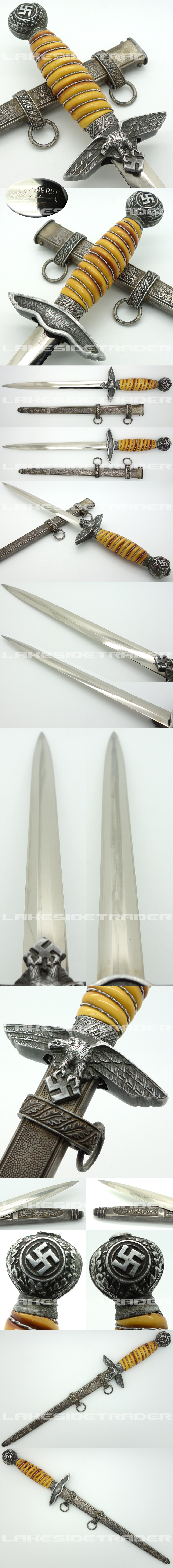 Very Rare ‐ 2nd Model Luftwaffe Dagger by Hack-Werke