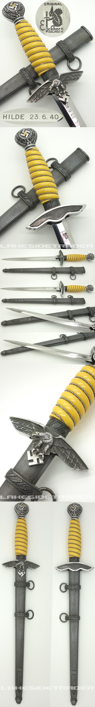 Personalized 2nd Model Luftwaffe Dagger by Carl Eickhorn