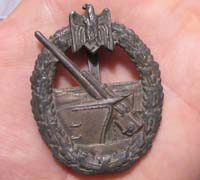 Coastal Artillery Badge by C. E. Juncker