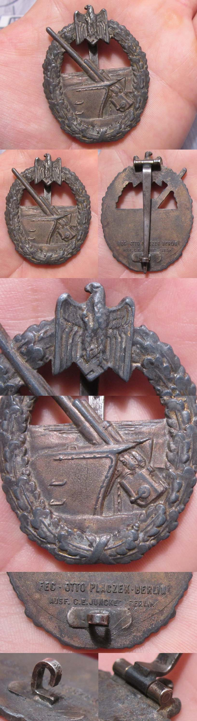 Coastal Artillery Badge by Juncker