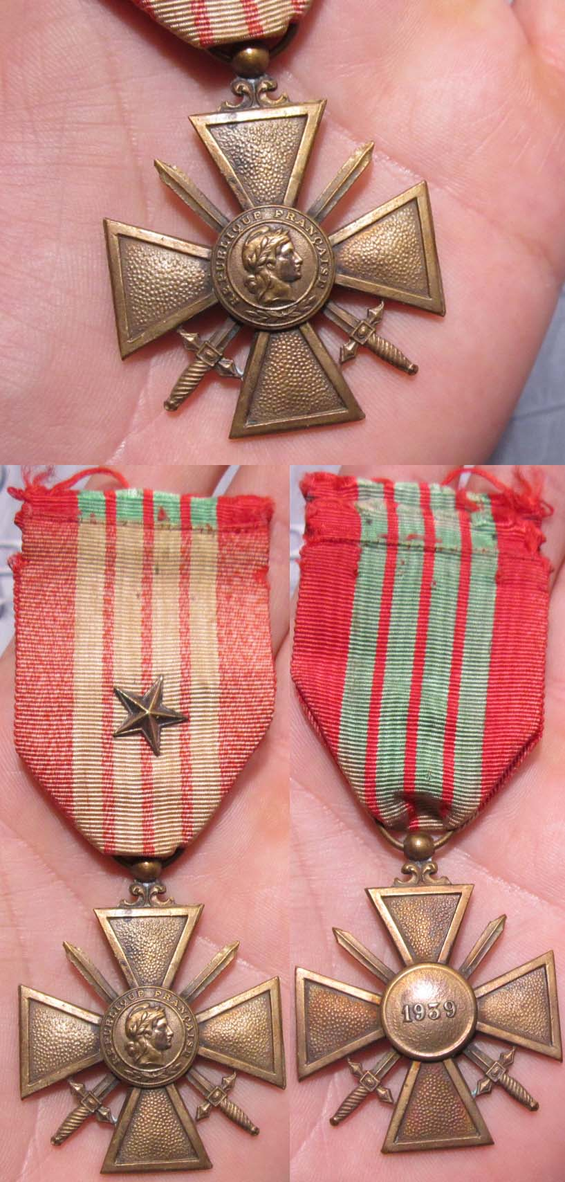 French War Cross with Bronze Star 1935-45