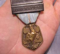 French 1939-45 Commemorative War Medal 2 Clasps
