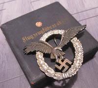 Rare Cased J1 Juncker Pilots Badge in Aluminum