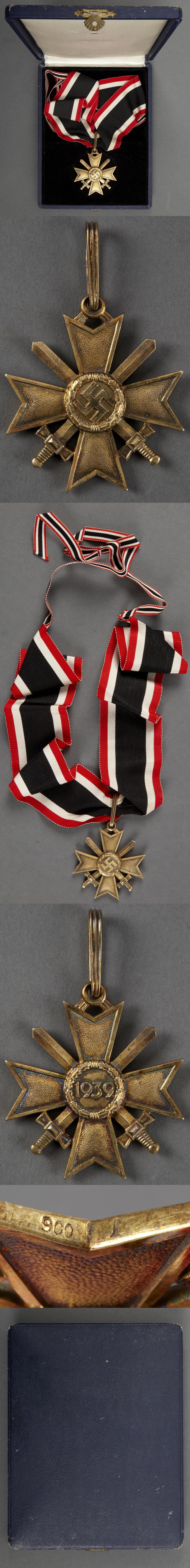 Cased Golden Knights Cross of the War Merit Cross