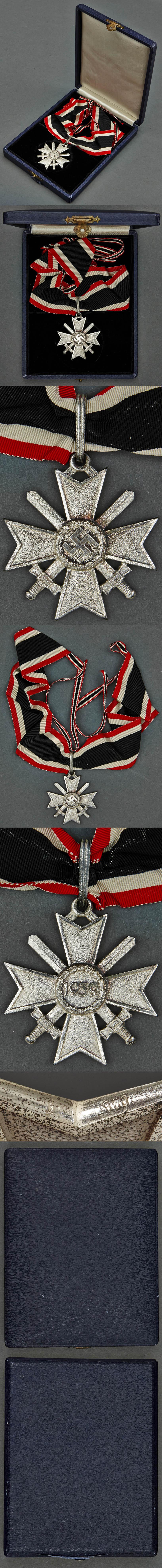 Cased Silver Knight's Cross of the War Merit Cross