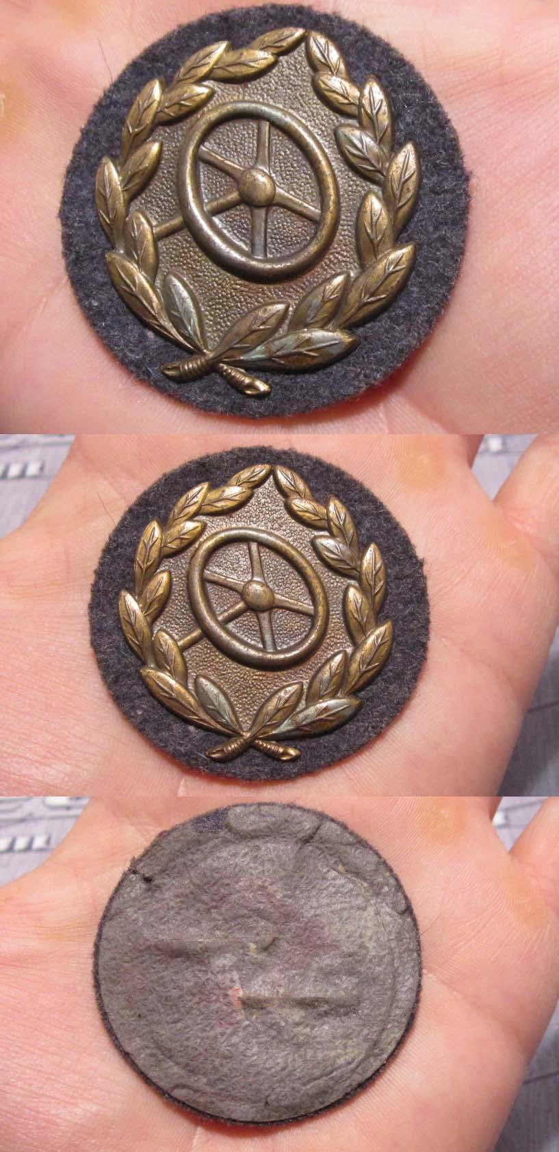 Luftwaffe Bronze Drivers Proficiency Badge