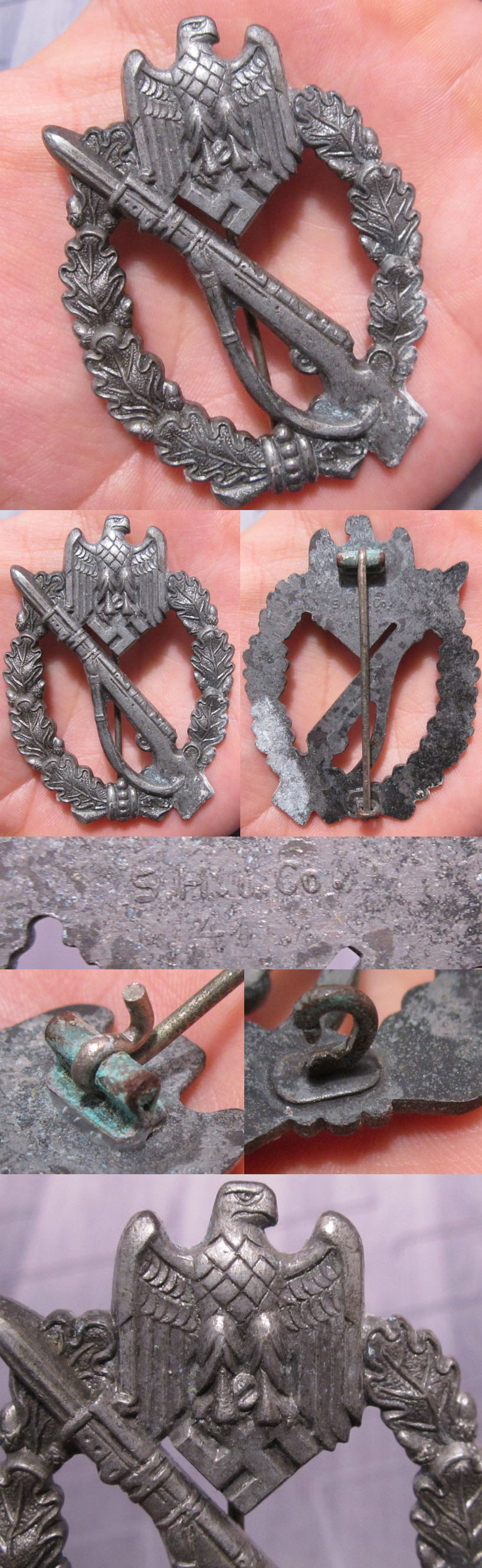 Silver Infantry Assault Badge by S.H.u. Co. 41