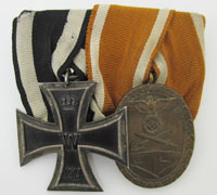 2pc Medal Bar Imperial EK2 and West Wall