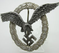 Luftwaffe Aluminum Pilot Badge by Assmann