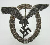 Luftwaffe Aluminum Pilot Badge by Assmann