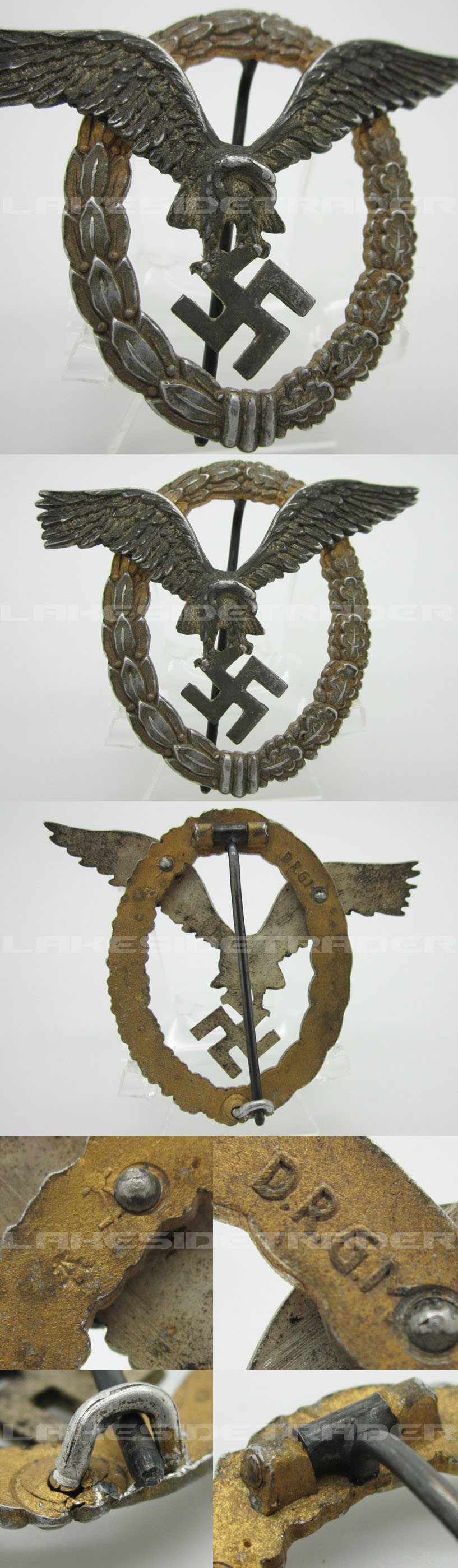 Luftwaffe Aluminum Pilot Observer Badge by Assmann