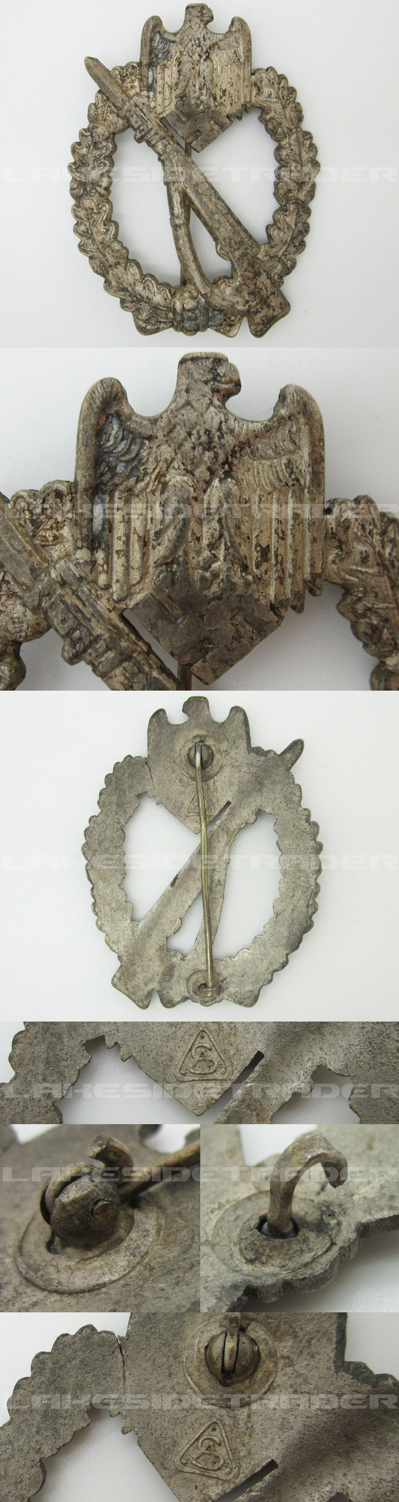 Silver Infantry Assault Badge by A.S.