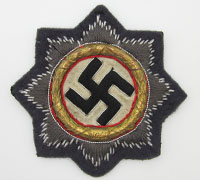 Gold German Cross in Cloth for Luftwaffe