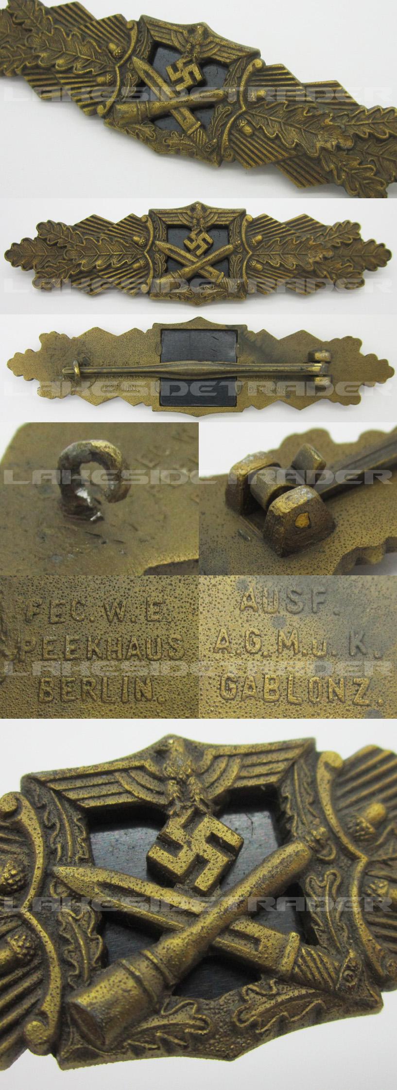Bronze Close Combat Clasp by A.G.M.u.K.