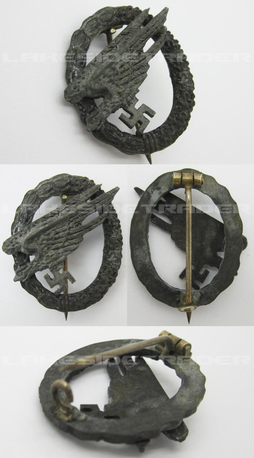 Post-War Miniature Luftwaffe Paratrooper Badge