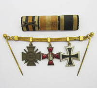 Imperial Three Piece Miniature Chain and Medal Bar