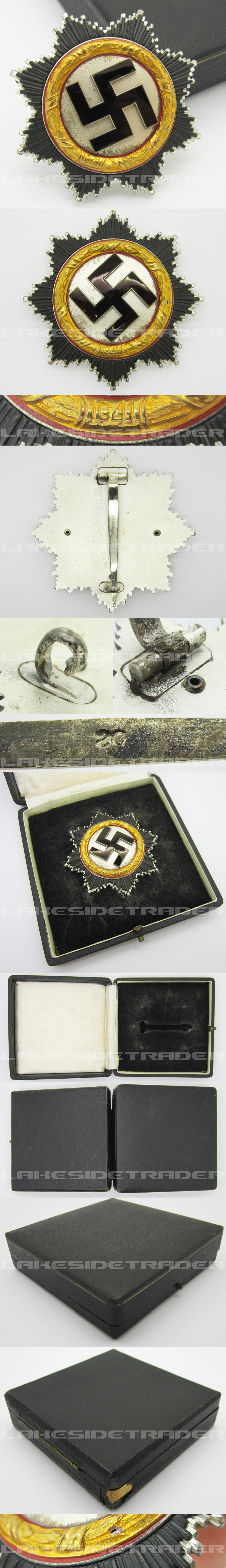 Cased Gold German Cross by Zimmermann