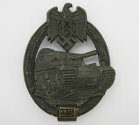 Grade II Bronze Panzer Assault Badge by G.B.