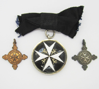 The Order of St. John Serving Sister Breast Badge with Miniatures