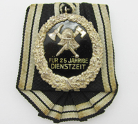 Prussian Fireman's 25 Year Long Service Award
