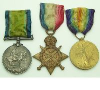 3 Medal grouping to Royal Army Medical Corps Pte JW Wright
