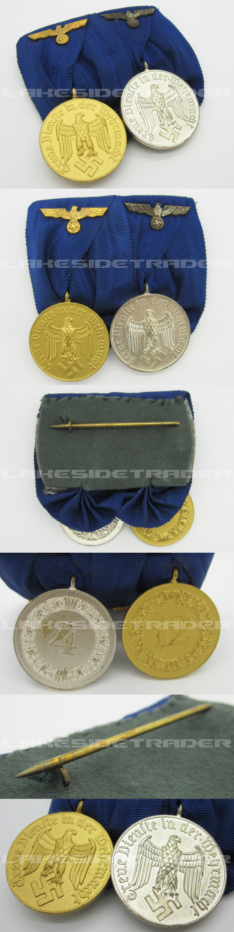 Army 4 & 12 Year Long Service Medal Bar