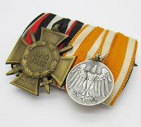 Life Saving Medal / Hindenburg Cross w Swords Medal Bar