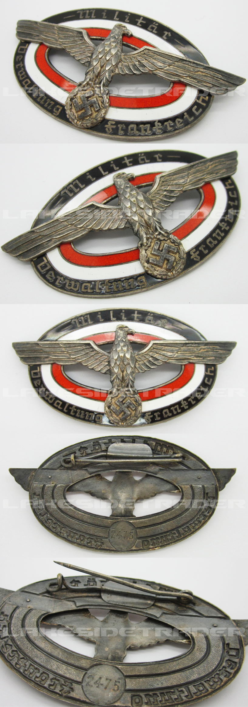 Military Administration of France Badge