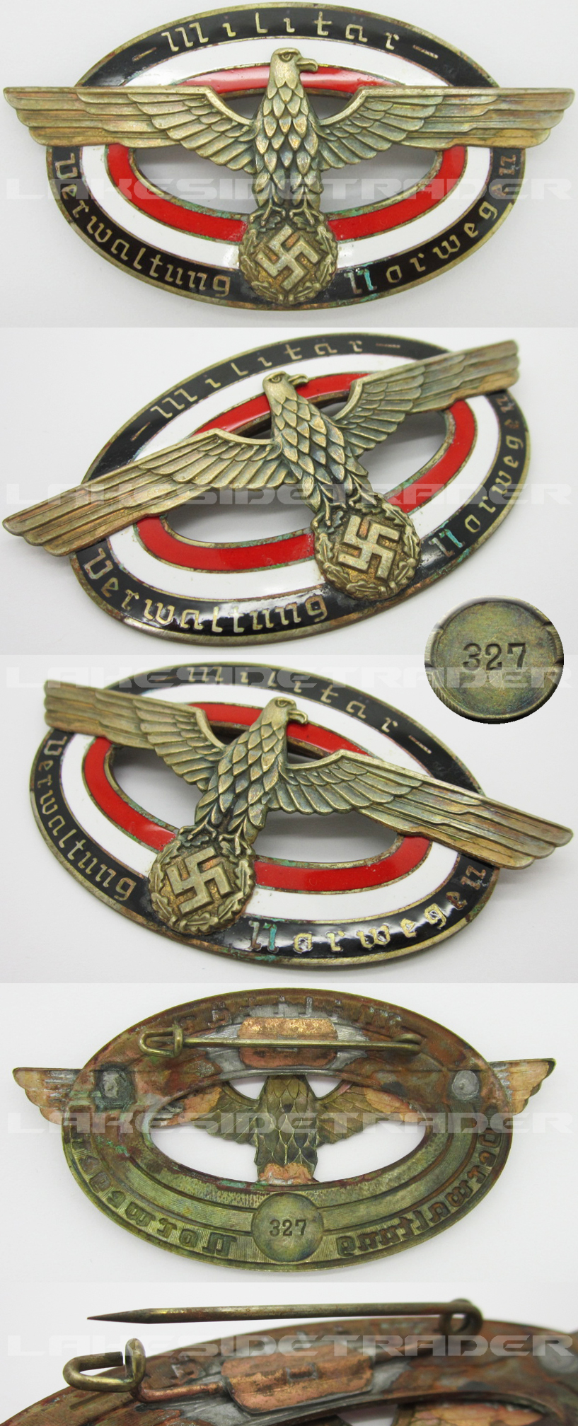 Military Administration of Norway Badge