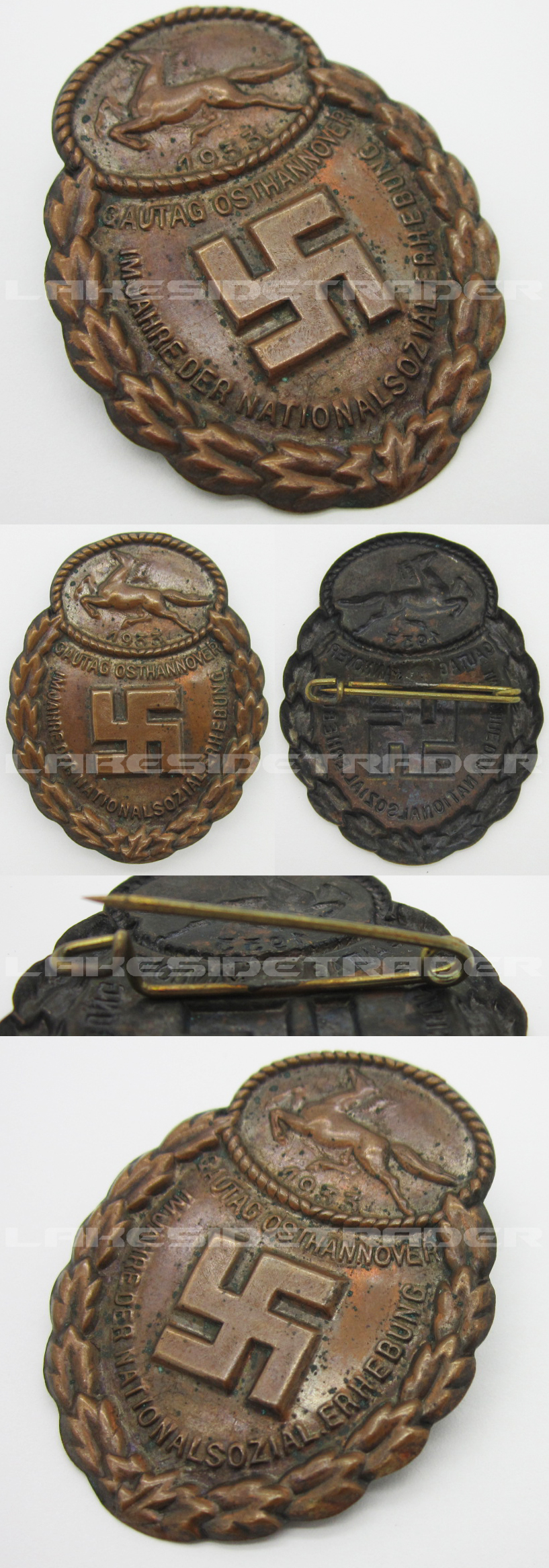 Gau East Hanover Commemorative Badge 1933