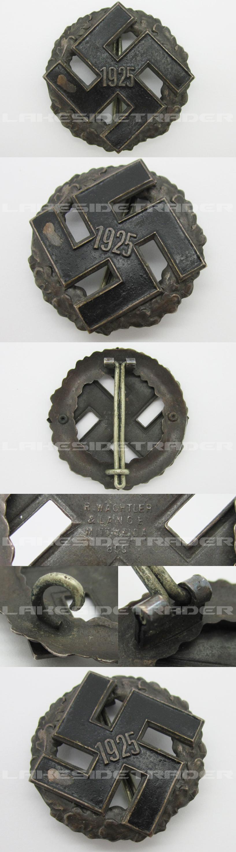 NSDAP General Honor Gau Badge 1925