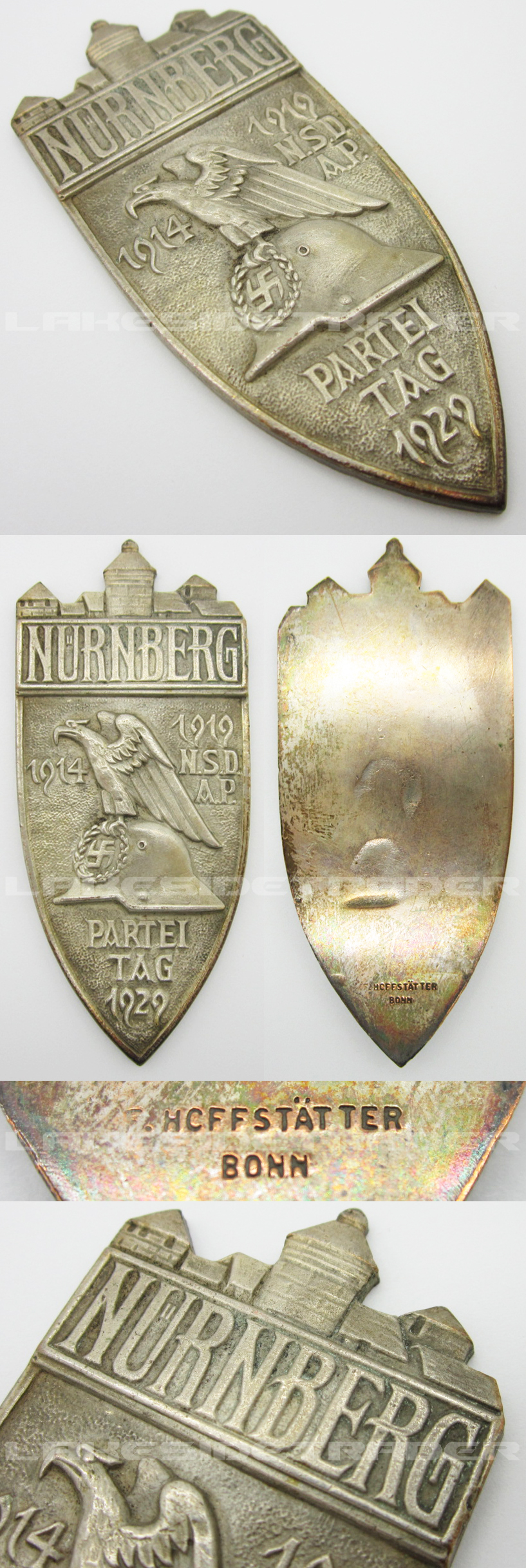 NSDAP Nuremburg Party Rally Medallion 1929