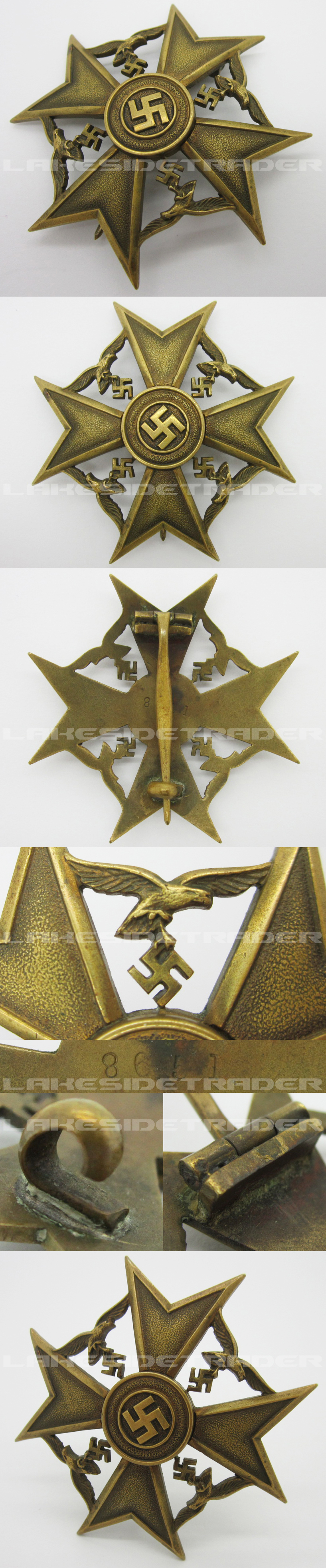 Numbered Bronze Spanish Cross