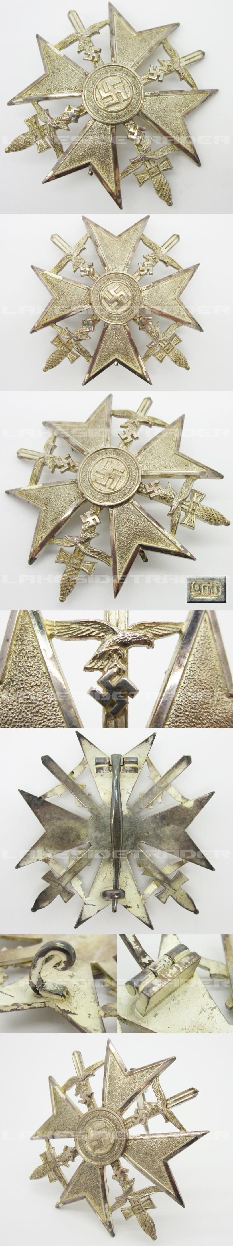 Silver Spanish Cross with Swords 900