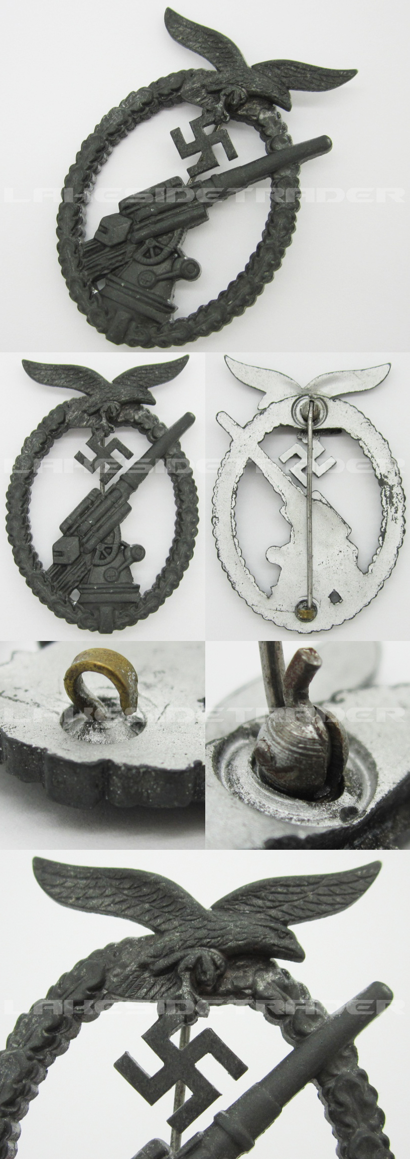 "Luftwaffe ""Ball Hinge"" Flak Badge"