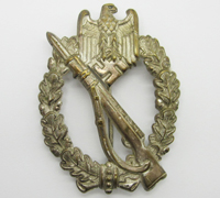 Earliest Silver Infantry Assault Badge by Schickle