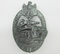 Silver Panzer Assault Badge by R.K.