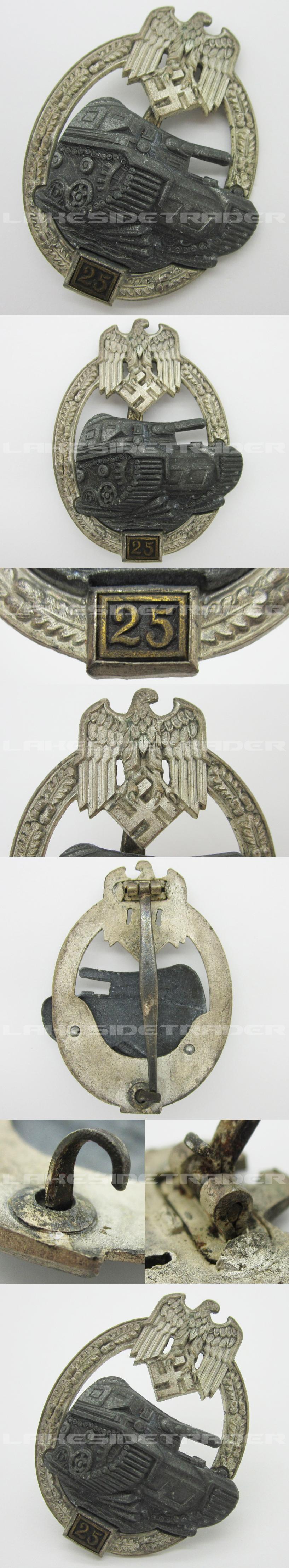 Grade II Silver Panzer Assault Badge by JFS