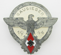 Hitler Youth Gausieger Victors Badge by G. Brehmer 1944