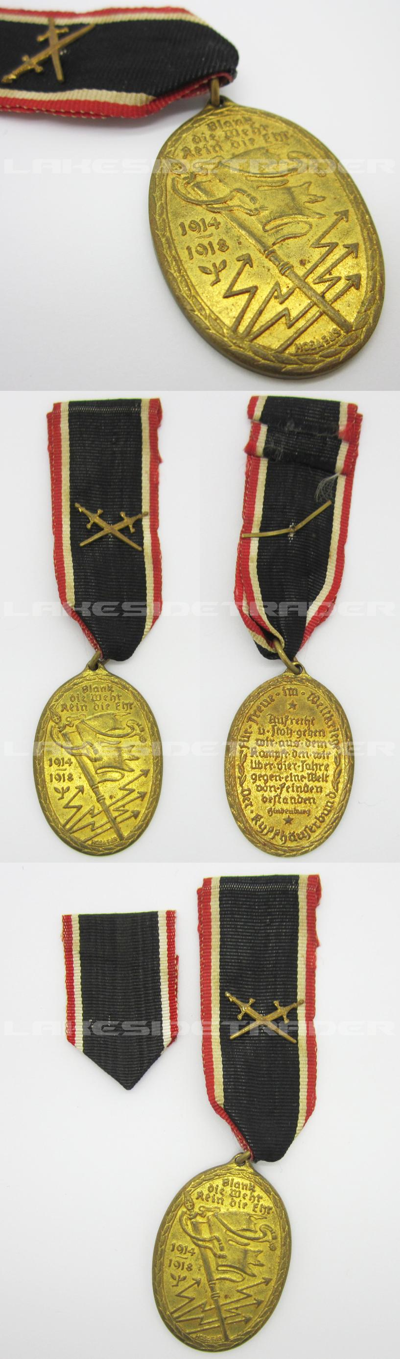 War Veterans Comm. Medal - Kyffhäuser Union