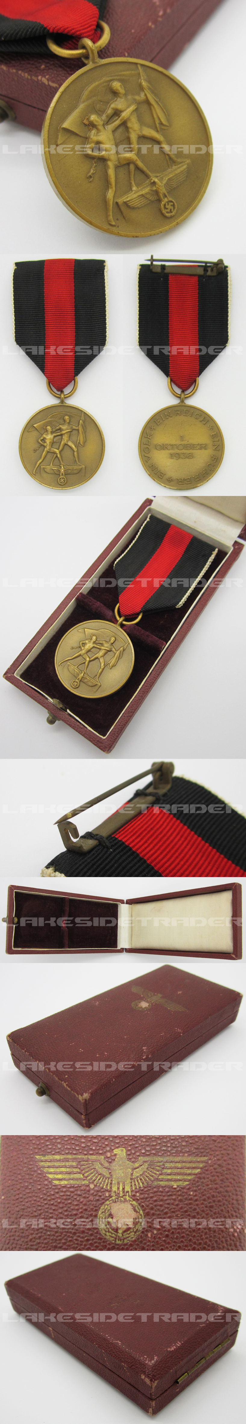 Cased Sudetenland Commemorative Medal