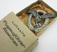 Cased Luftwaffe Pilot Badge by FLL
