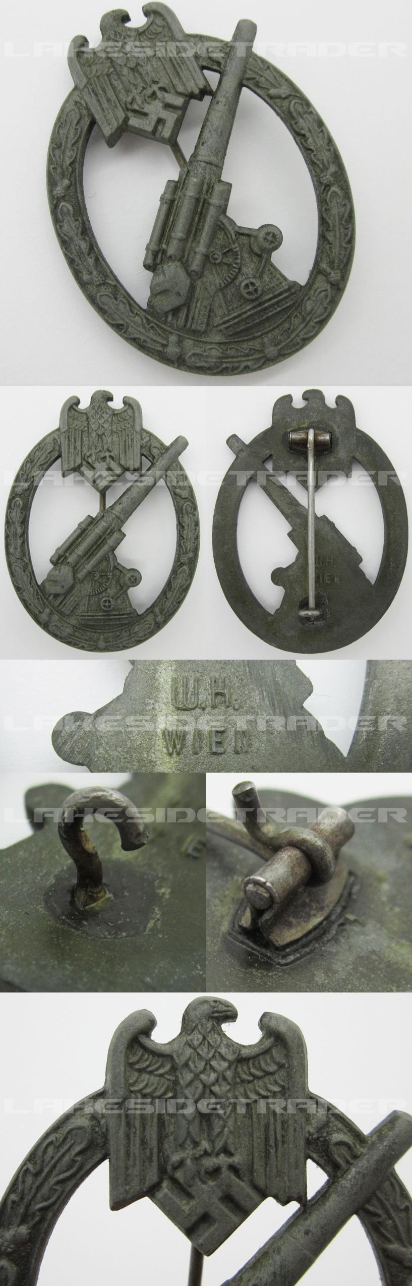 Army Flak Badge by W.H.