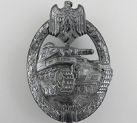 Silver Panzer Assault Badge by S & L