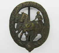 Bronze Horse Driver Badge by Chr. Lauer