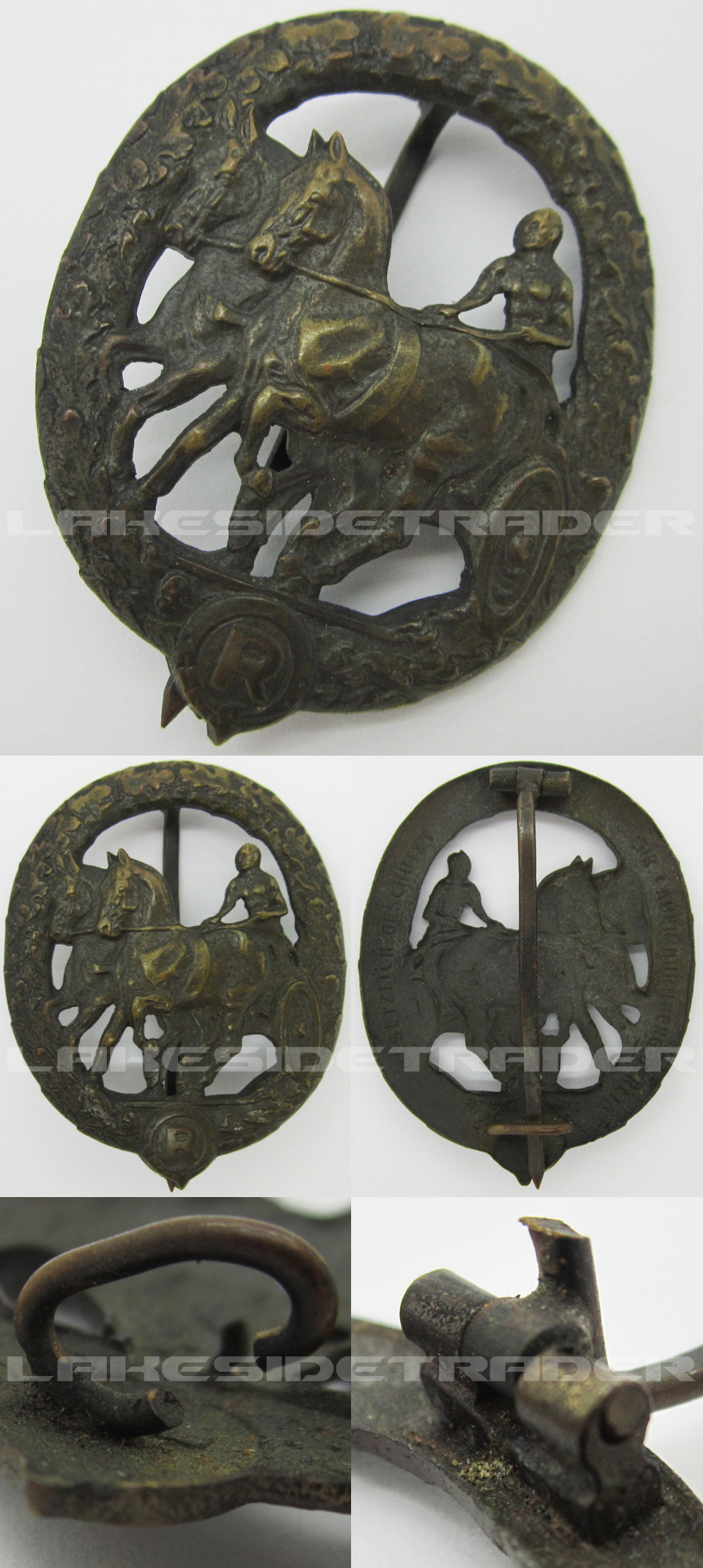 Bronze Horse Drivers Badge by Chr. Lauer
