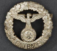 Rare GAU Honor Badge Baden Small Version