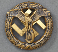 German Motor Sport Badge in Iron (Bronze)