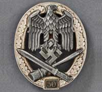 General Assault Badge Grade III (50) by Rudolf Karneth