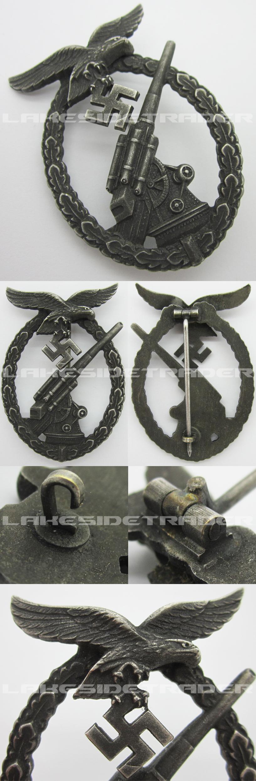 Luftwaffe Flak Badge by Steinhauer & Lück